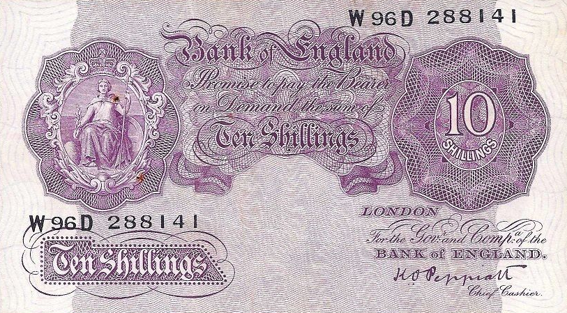 (402) Great Britain P366 - 10 Shillings Year 1948